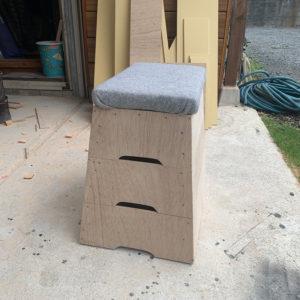 DIYサポートで跳び箱を作りました